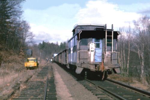 "Boston /& Maine RR 803  West Franklin NH 1967 4x6/"" photo"