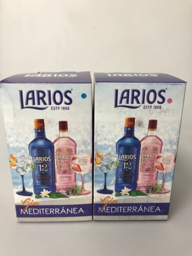 2 x Larios Pink Mediterranea balloon glasses large Gin glass bar