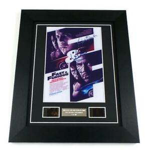FAST AND THE FURIOUS Film Cell + Signed PREPRINT Framed PAUL WALKER MEMORABILIA