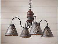 Cambridge 4-arm Wooden Country Chandelier-3 Color Choices/country Lighting