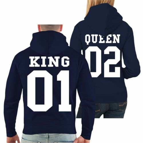 Partner Kapuzenpullover King oder Queen Valentinstag Paar Partner Couple Hoodie