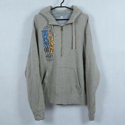 NIKE Vintage Mens Light Brown Half Zip Henley Sweatshirt Hoodie SIZE Large, L | eBay