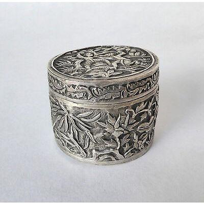 Ancienne BOITE Argent massif Singe 19ème siècle Chine Silver Box