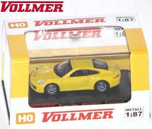Vollmer-Cars-H0-41612-Porsche-911-Carrera-S-gelb-NEU-OVP