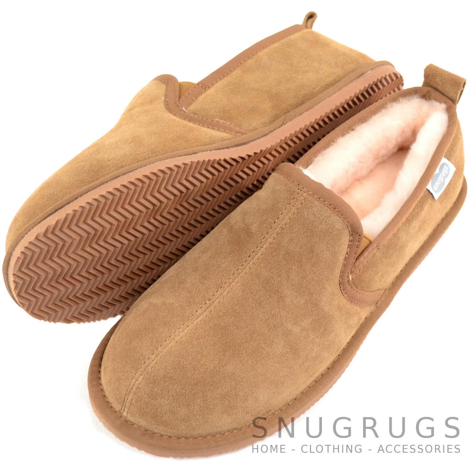 Snugrugs Herren/Herren Luxus Voll Lammfell Gummisohle Pantoffel Stiefel mit Gummisohle Lammfell 880cf2