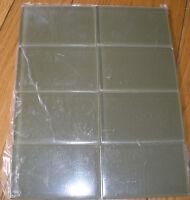 3x 6 Subway Crystal Glass Tile Kitchen Bathroom Wall:olive Green