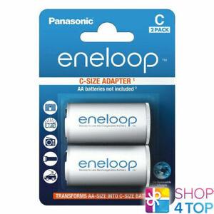 2-Panasonic-Eneloop-adaptateur-pour-piles-AA-R6-a-C-R14-T-Convertisseur-Separateur-Case
