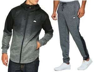 nouveau style 093b1 66cd2 Détails sur Ellesse Homme Neuf Vêtement Survêtement Capuche,ou Jogging  Pantalon Gris Mix
