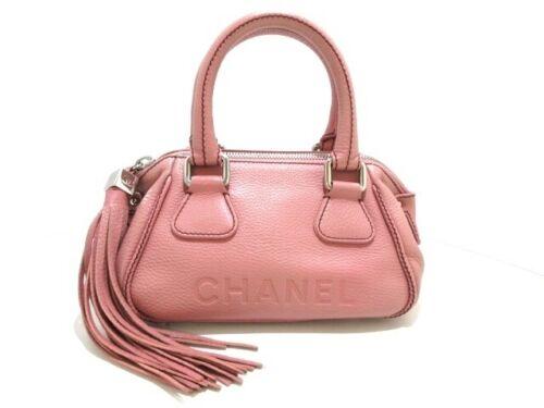Auth CHANEL Pink Caviar Skin Handbag