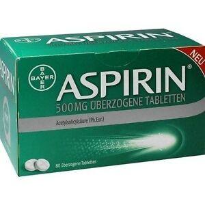 ASPIRIN 500 mg überzogene Tabletten 80 St. MicroAktiv PZN 10203632 (0,16€/1 St.)