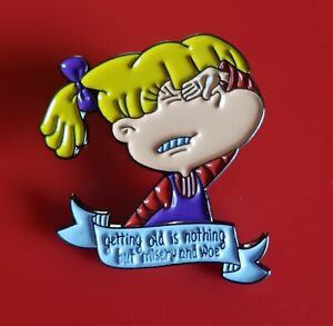 Rugrats-Pin-Angelica-Enamel-Retro-Metal-Brooch-Badge-Lapel