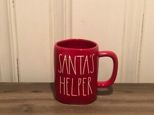 Rae-Dunn-Christmas-By-Magenta-SANTA-039-S-HELPER-LL-Farmhouse-Red-Holiday-Mug