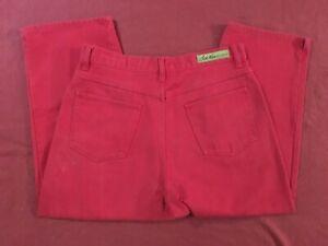 Bill-Blass-Easy-Fit-Red-Capri-Jeans-Womens-Size-10-100-Cotton