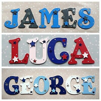 New Baby Boys Name Wooden Letter Bedroom Nursery Door Wall Art Any Colour Theme Kids Teens At Home Home Decor