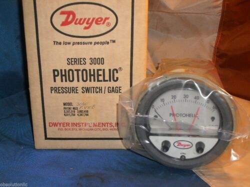 "Dwyer 3100 PHOTOHELIC PRESSURE SWITCH//GAGE RANGE:0/""-100/"""