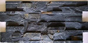 charcoal stacked natural stone for walls backsplash rock