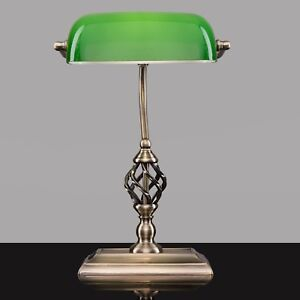 Beautiful Image Is Loading Kingswood Barley Twist Bankers Desk Lamp With USB