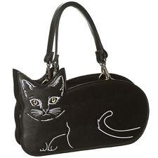 Banned Handtasche Henkeltasche Tasche - Kitty Cat Katze Kätzchen Schwarz