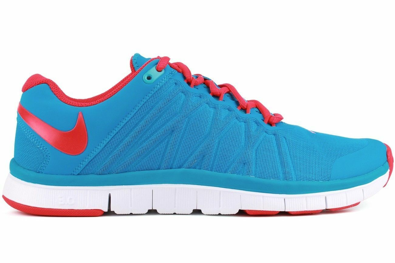 Nike Free Trainer 3.0 Vivid Blue/Crimson Men's Running Training Shoes  Size 14
