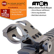 "25mm Offset torch mount / 1"" offset rifle laser mount / Fits 20mm weaver rail"