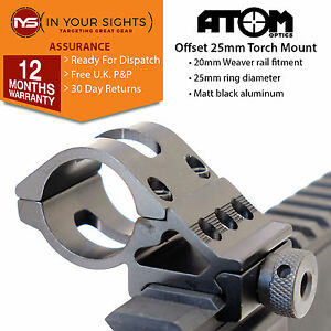 8715e86dc3b La imagen se está cargando 25mm-offset-Antorcha-Soporte-2-5cm-Rifle-LASER-