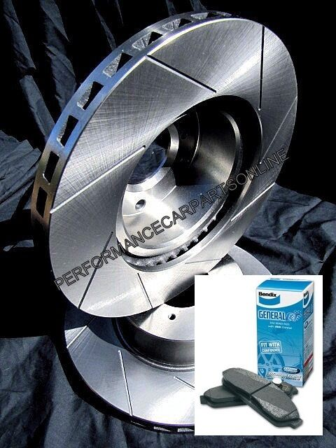 VMAX SLOTTED FRONT fits Commodore VT VU VX VY VZ Disc Brake Rotors & BENDIX PADS