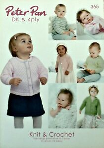 d6ff43f4c KNITTING PATTERN BOOK Peter Pan Baby Toddlers DK 4ply 365 KNITTING ...