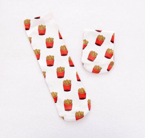 Potato chips socks.french fries socks.macca socks.foodie Socks Fastfood Socks