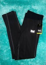 MENS BLACK EVERLAST RUNNING TIGHTS LEGGINGS COMPRESSION PANTS SIZE XLARGE NWT