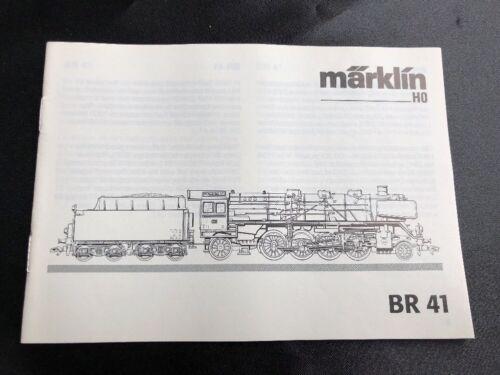 sólo la descripción original//instruction de 2001//02 Märklin h0 br 41