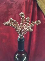 *NEW* Exceptional SAKS FIFTH AVENUE Copper Mini Bells Wine BOTTLE STOPPER CORK