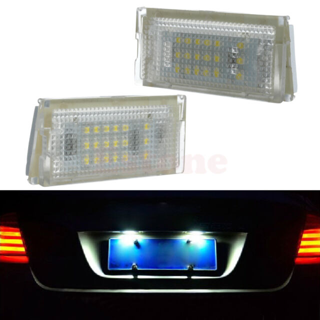 1Pair License Plate Light 18 LED Lamps For BMW Mini Cooper R50 R52 R53 Canbus
