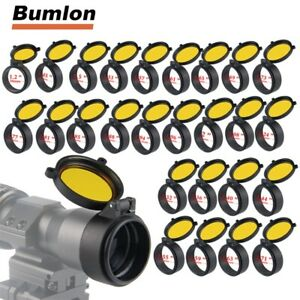 30-69mm-Rifle-Scope-Protector-Cover-Flip-Up-Quick-Spring-Protection-Yellow-Lid