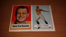 1957 Topps Football Card #22 Norm Van Brocklin EX*slight wax on back *1417
