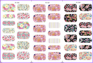 Nail-Art-Water-Decals-Transfers-Stickers-Spring-Flowers-Floral-Roses-Shabby-Chic