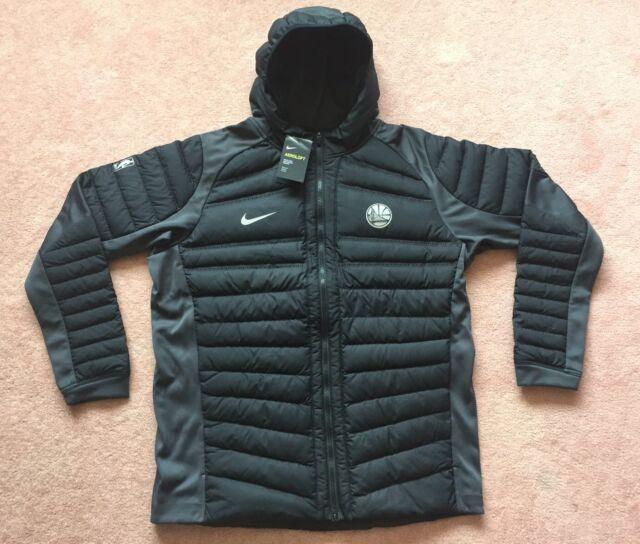 898e92167338 Nike Sportswear Aeroloft Black Down Jacket Golden State Warriors KD NBA Mens  2XL