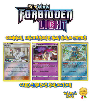 FORBIDDEN LIGHT Select your card Rare HOLO//REV HOLO Pokemon Cards