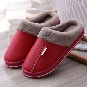 Couples Women/'s Men/'s Fur Lined Slippers Mules Non Slip Rubber Sole Shoes US 5-9