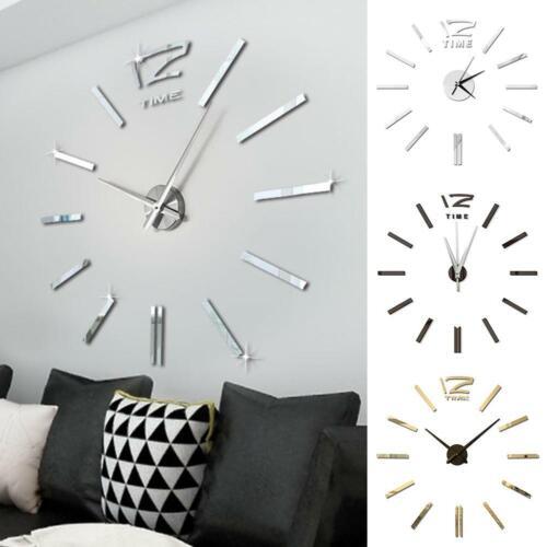 Сделай сам многочисленные настенные часы 3D зеркала стикер современный домашнего офиса декор, Арт, переводная картинка