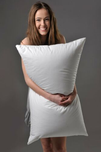 KING FIRM PILLOW 95/% SIBERIAN DUCK DOWN BETTER THAN HOTEL QUALITY PURE LUXURY