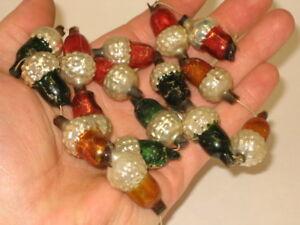 German-Acorn-Glass-Bead-Garland-String-Antique-Figural-Christmas-Ornament-1900-039-s