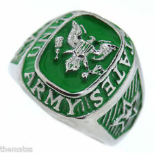 MENS ARMY COURAGE DEVOTION EAGLE STAINLESS STEEL RING SIZE 7 8 9 10 11 12 13 14