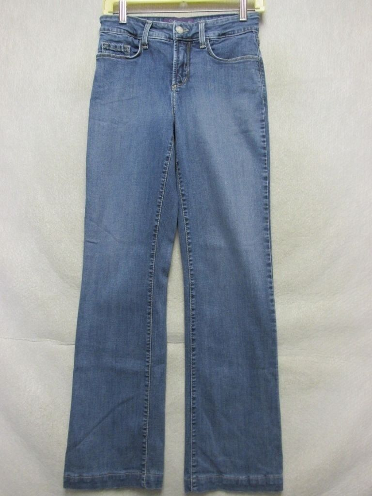 A7142 NYD USA Made Stretch High Grade Straight Jeans Women 27x30