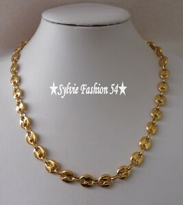 gros collier or homme