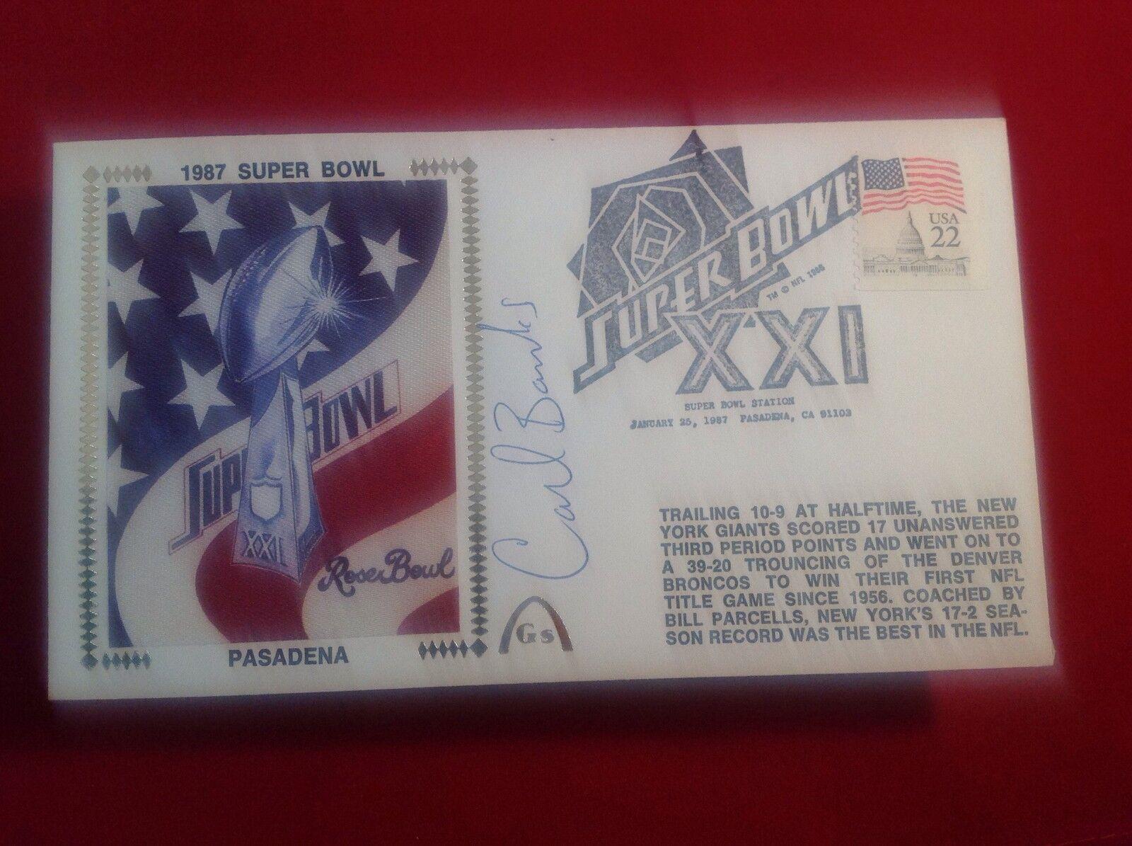Carl Banks signed 1987 Super Bowl Gateway Cachet PSA/DNA Cert# W40410