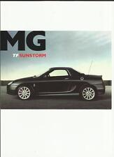 MG TF 115, 135 AND 160 SUNSTORM SPECIAL EDITIONS SALES 'BROCHURE' /SHEET