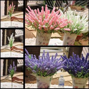 10 Kopf Künstliche Lavendel Bouquet Silk Blume Home Hochzeit Garten Dekor