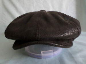 BLACK-FAUX-LEATHER-1920-S-1930-S-VICTORIAN-EDWARDIAN-PEAKY-BLINDERS-CAP