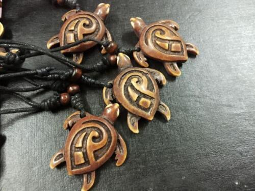 12 pcs Tortoise turtle personalized accessories vintage bone powder necklace