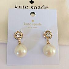 Item 3 Nwt Kate Spade New York Lady Marmalade Cream Gold Pearl Earrings O0ru1959